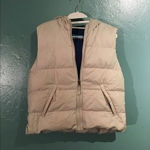 Abercrombie Tan Puff Vest